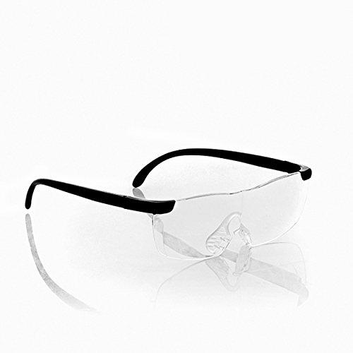 Oramics Lupenbrille Vergrößerungsbrille Brillenlupe – ideal zum Lesen und für Feinarbeiten – 60{33b2e7b31d023d835e7c2027da7cf1bd940407d8f18814303771d6073af579fb} Vergrößerung, ergonomisches Design aus Polycarbonat inkl. Stoffetui