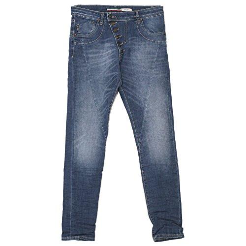 Please, 7/8 Slim Boycut, 7/8 Damen Jeans Hose, Stretchdenim, Blue Denim, L Inch ca. 32 L 28 [19910]