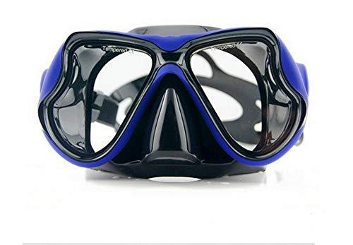ShuoBeiter Tauchermaske kurzsichtig Diving Tauch Schnorchel Maske NEARSIGHTED Verschreibung RX Sehstärke (Blue, -5.0)