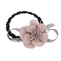 Stylish Ladies Rubber Band Durable Hair Band Elastics Hair Ties Flower Pink