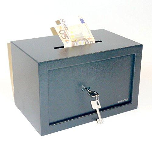 Tresor Möbeltresor Safe mit Einwurfschlitz - ca. 12l - 2 x Doppelbartschlüssel -