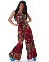 Summery multicoloured jump suit / boiler suit (608-1)