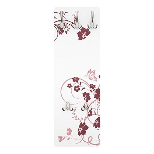 Apalis 78485 Wandgarderobe Apricot Blossom   Design Garderobe Garderobenpaneel Kleiderhaken Flurgarderobe Hakenleiste Holz Standgarderobe Hängegarderobe   139x46cm