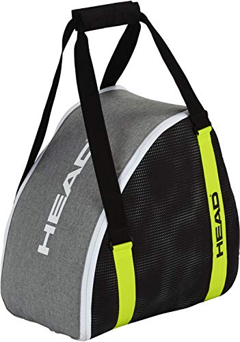 HEAD Boot Skischuhtasche, Antracite/Grey/Neon Yellow, 40 x 39.5 x 26.5 cm/30 L