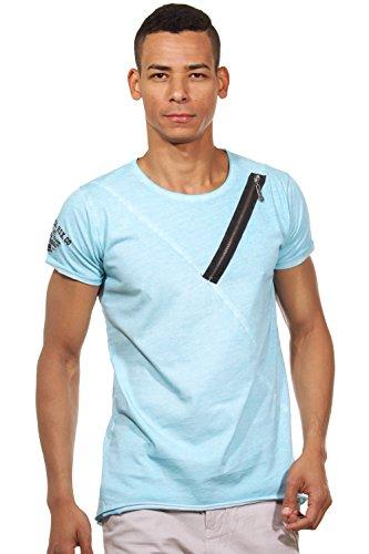 R-NEAL T-Shirt Rundhals slim fit Türkis