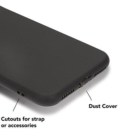 iPhone X Cover Custodia Protezione di NICA, Ultra-Slim Case Protettiva Morbido Cellulare in Silicone Gel, Gomma Jelly Bumper Sottile per Telefono Apple iPhone X Smart-Phone, Colore:Turchese Cuore Nero