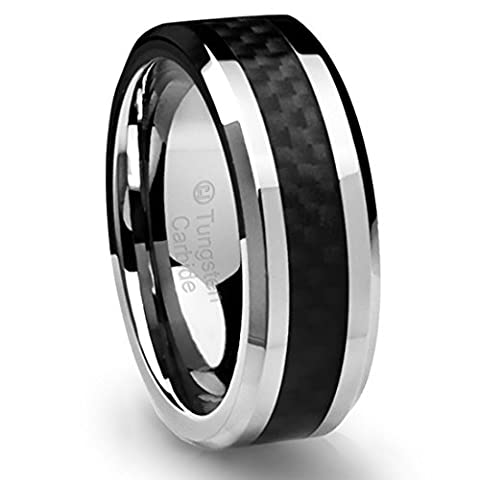 Cavalier Jewelers 8MM Men's Tungsten Carbide Ring Wedding Band with