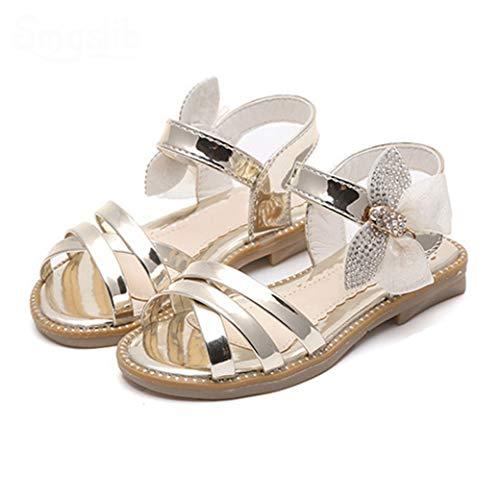 Mädchen Sandalen Sommer Schmetterling süße Schuhe Komfort Flache rutsch rutsch Prinzessin Party Sandalen im freien gehen Sandalen Schulschuhe