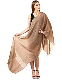 Pashtush Women's Reversible Stole, Pashmina Hand feel, Fine Wool Scarf (size 28 x 80 inches) (Extra Soft and Warm)