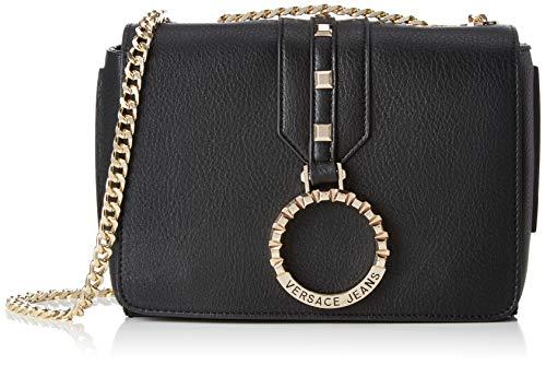 Versace Jeans Couture Damen Bag Umhängetasche, Schwarz (Nero), 6x16x22 Centimeters