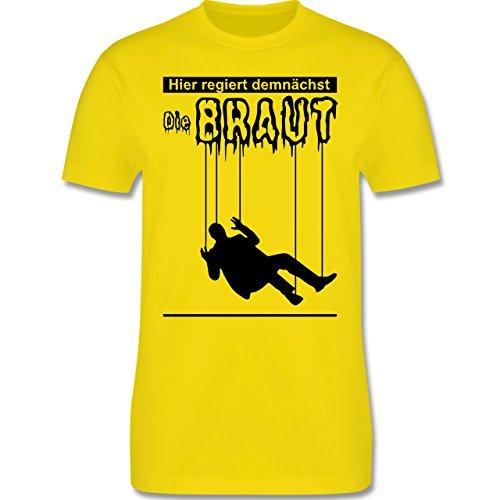 JGA Junggesellenabschied - Hier regiert demnächst die Braut - Herren Premium T-Shirt Lemon Gelb