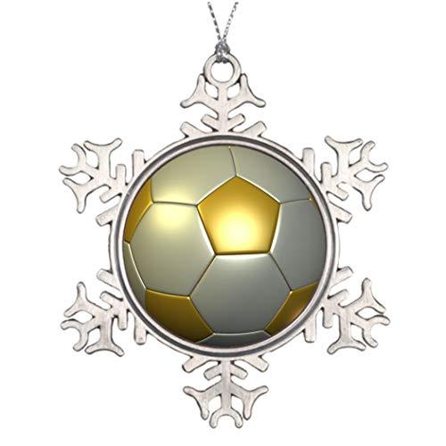lake Ornament, Christmas Ornament, Gold Soccer Ball Unique Snowflake Ornaments Keepsake Gift, Christmas Decor ()