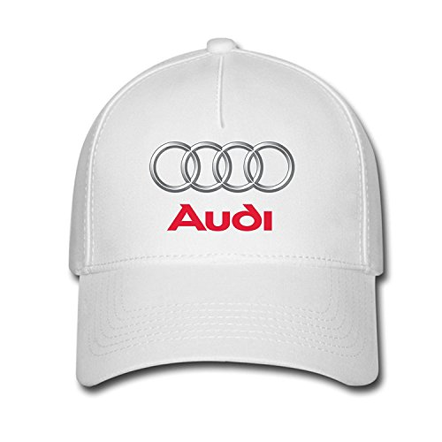 Hittings Unisex Audi Logo Baseball Caps Hat One Size White