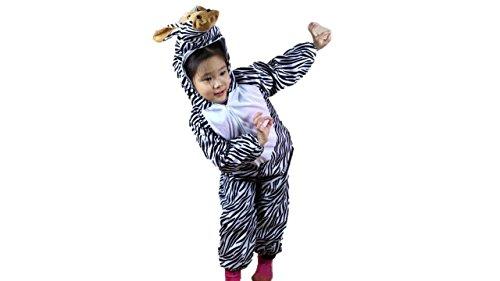 Kinder Tierkostüme Jungen Mädchen Unisex Kostüm Outfit Cosplay Kinder Strampelanzug (Zebra, XL (Für Kinder von 120 bis 140 cm)) (Strampelanzug Pyjama Mädchen)