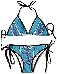 Moda para Mujer Llama Divertida en Bowtie Impresión Sexy Bikini de Dos Piezas Set Traje de