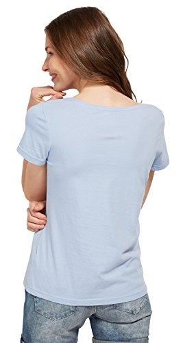 Tom Tailor für Frauen T-Shirt T-Shirt mit Foto-Print und Schrift brunnera blue