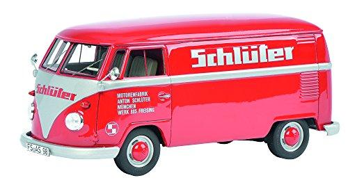 Schuco 450892800 - VW T1b Schlüter Maßstab 1:32, rot/Silber
