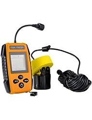 Sharplace 100 Mètres Pêche Détecteur de Poisson Capteur Sonar Portable LCD Fish Finder Attirail pour Pêcheur
