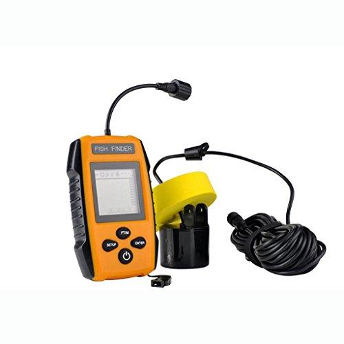 Sharplace Fish Finder LCD-Display Fischfinder Modul Inkl. Transducer Float Unterwasser Alarm Kabel, Tiefe: 100 M -