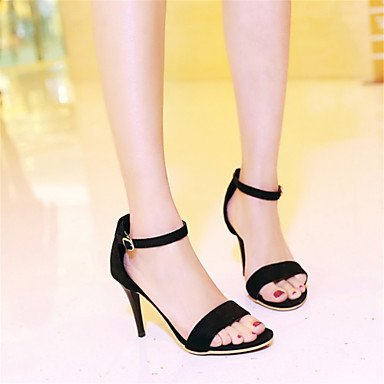 LvYuan Sandali-Ufficio e lavoro Formale Casual-Club Shoes-A stiletto-Velluto Materiali personalizzati Finta pelle-Nero Bianco Arcobaleno rainbow