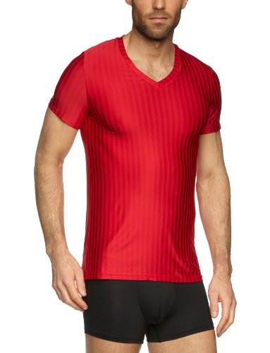 HOM Herren Unterhemd Innocent Shirt 03 Rot (Rot)