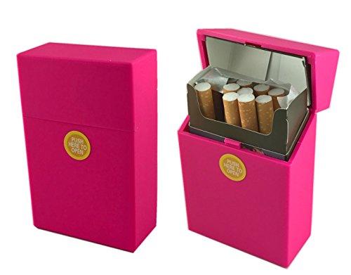 Offre Lagiwa - Etui à paquet de 20 cigarettes couleur au choix avec 1 cadeau bonus (Rose Mat)