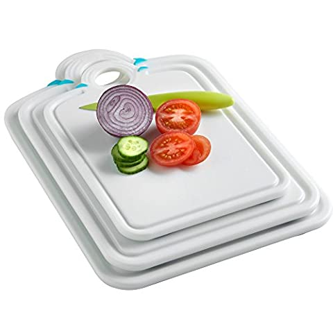 VonShef Set of 3 Chopping Boards with Handle, 99% Antimicrobial Protection