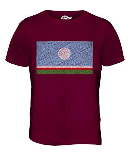 CandyMix Sacha Kritzelte Flagge Herren T Shirt Burgunderrot