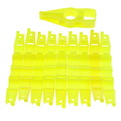 FLAMEER 10 Stücke Geflügel Hühnerfarm Hühnerstall Trinkwasserleitung Schlauch Clip Befestigungen - Rund Quadratisch
