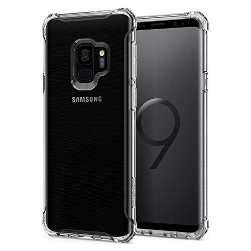 Spigen Rugged Crystal Samsung Galaxy S9 Hülle (592CS22835) Silikon Transparent Bumper-Style Handyhülle Durchsichtige Extra Kantenschutz Schutzhülle Case (Crystal Clear)