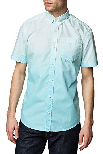 next Herren T-Shirt Farbverlauf Normale Passform Baumwolle Kurzarm T Shirt Top Blau