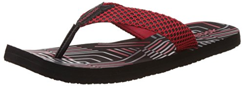Reebok Men's Sport Flip Black, Red Rush and Ash Grey Flip-Flops and House Slippers - 7 UK/India (40.5 EU) (8 US)  available at amazon for Rs.479