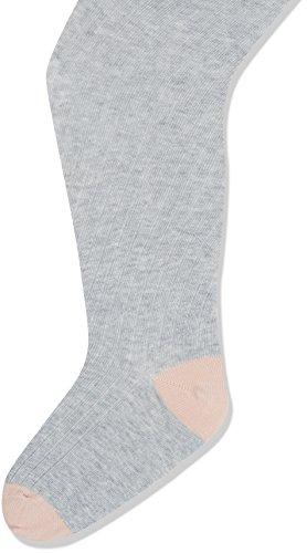 Noa Noa Mädchen Strumpfhose Mini Basic Rib Hosiery, Grey (Light Grey Melange), 122-128 (Rib Strumpfhose)