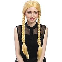WIG ME UP ® - 90958-ZA88C Peluca señoras Carnaval dos trenzas trenzados rubio oro 60 cm