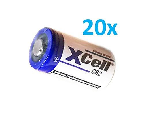 20x XCell Fotobatterie CR2 Lithium Batterie 3V 850mAh CR15H CR15H270 CR17355 DLCR2 CR15H270 Akkuman.de Set (20er)