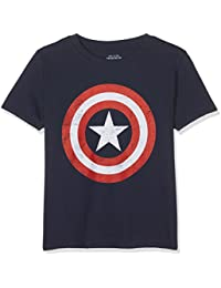 Marvel Boy's Captain America Retro T-Shirt
