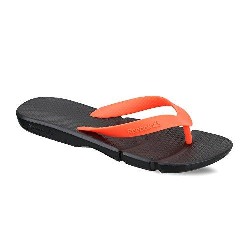 11d72334e Reebok Men s Fresco Flip Black and Neon Cherry Flip-Flops and House Slippers  - 4 ...