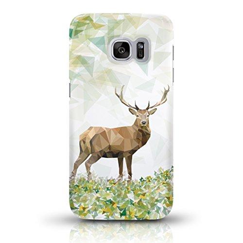 """JUNIWORDS Handyhüllen Slim Case für Samsung Galaxy S7 - Motiv wählbar - """"Anker Design 1 Dunkelblau"""" - Handyhülle, Handycase, Handyschale, Schutzhülle für Ihr Smartphone Majestätischer Hirsch"""