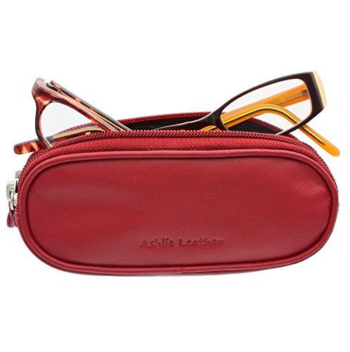 Ashlie Leather Doppio Custodia Per Occhiali Di Pelle 4301_21 Gelso Rosso