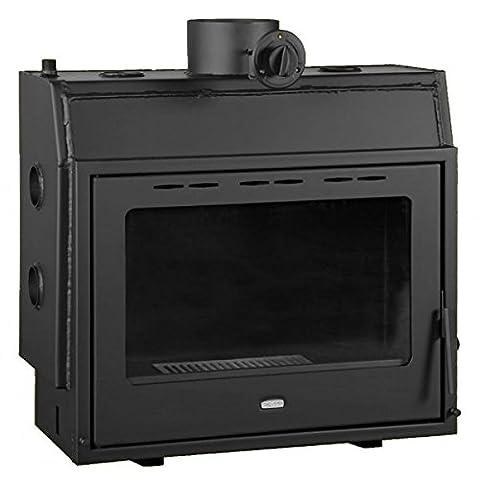 Wood burning fireplace insert Prity, Model P W18, Heat output 23kW, Boiler