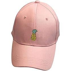 Rovinci Unisexo Sombreros de piña Hip Hop Ajustable Sombrero Puntiagudo Casual Gorra de Beisbol (Rosado)