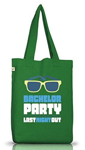 Junggesellenabschieds JGA Hochzeit Jutebeutel Stoffbeutel Sunglasses - Bachelor Party Moss Green