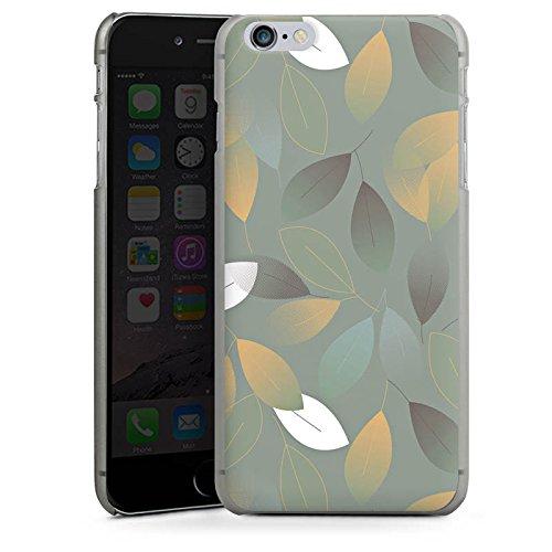 Apple iPhone X Silikon Hülle Case Schutzhülle Herbst Blätter Grün Hard Case anthrazit-klar