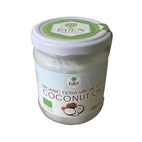 Premium Bio-Kokosöl Nativ & Kaltgepresst, Virgin Coconut Oil 200 ml kaltgepresst | 100% naturbelassen | für Haut, Haare, Massagen und zum Kochen geeignet | kaltgepresst | Premium Qualität Paleo