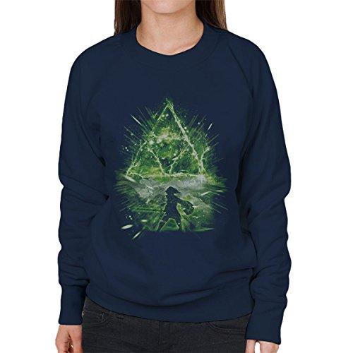 Triforce Storm Legend Of Zelda Women's Sweatshirt Navy blue