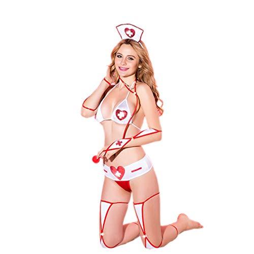 LCWORD Frauen-Reizvolle Wäsche-Krankenschwester Cosplay Uniform-Porno-Erotische -