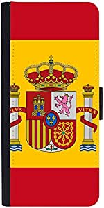 Snoogg Spain Flag 2980 Designer Protective Flip Case Cover For Samsung Galaxy S6