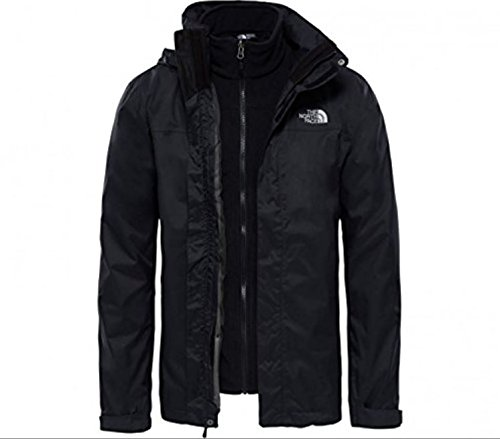 The North Face M Evolve II Triclimate Jacket - Chaqueta de esquí para hombre, Negro (TNF Negro), L