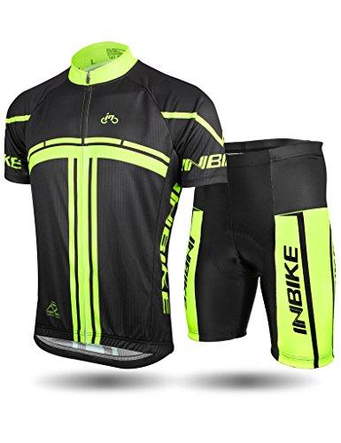 Inbike Radtrikot Set für Herren Fahrradbekleidung Kurzarm mit Radhose(XXXL) Xxxl Mountain Bike Shorts