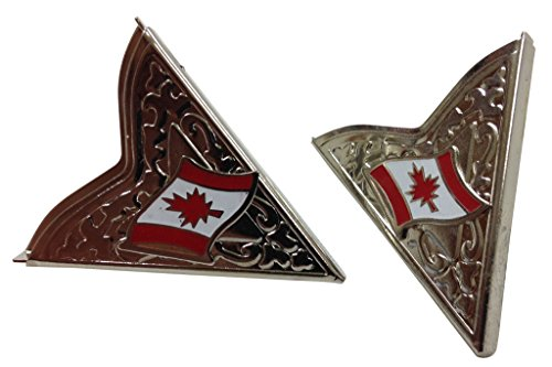 Kragenecken mit Kanada Fahne in Silberfahnen Größe Groß